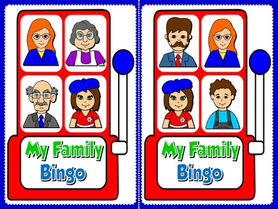 My Family - Bingo (Set of 20 cards)