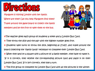 My Family - Board Game (Directions)