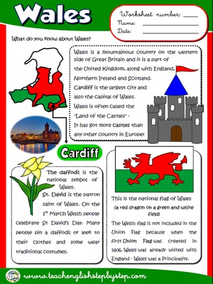 Wales - Worksheet
