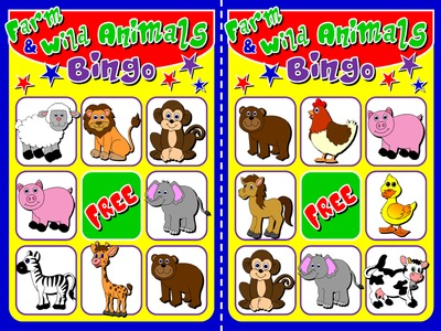 Animals - Bingo