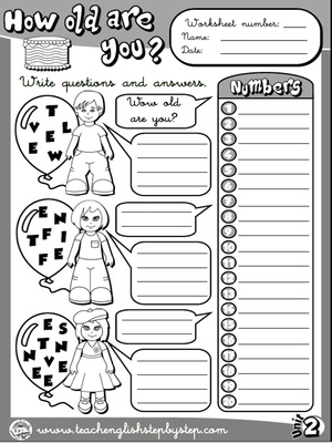 Age - Worksheet 4 (B&W version)