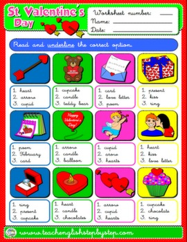VALENTINE'S DAY WORKSHEET 8#