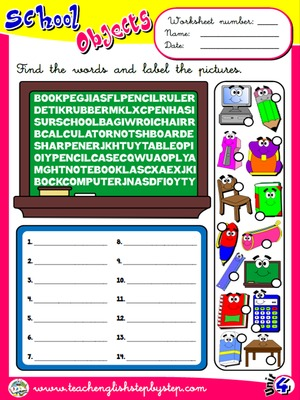 School Objects - Worksheet 4