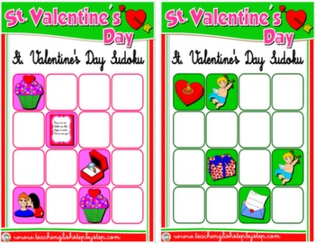 VALENTINE'S DAY SUDOKU CARDS 1 & 2#