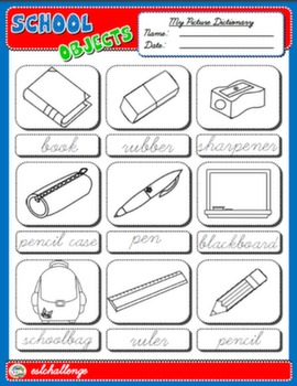 SCHOOL OBJECTS PICTURE DICTIONARY