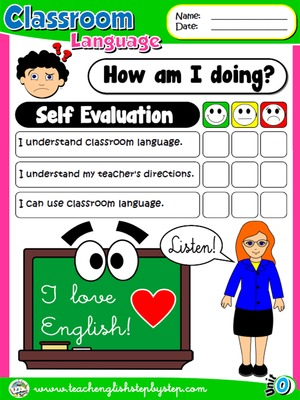 Classroom Language - Self Evaluation