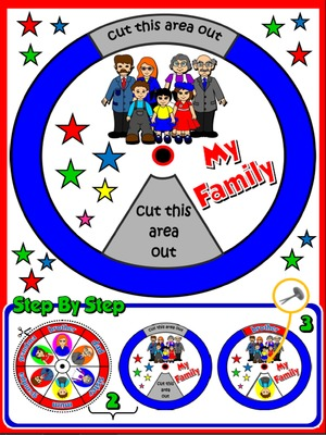My Family - Vocabulary Wheel - page 2