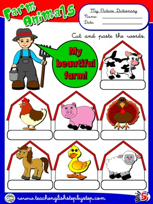 Farm  Animals - Picture Dictionary