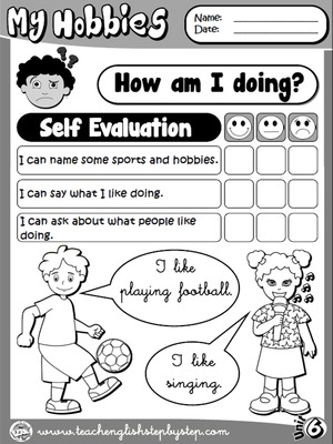 Hobbies - Self Evaluation (B&W version)