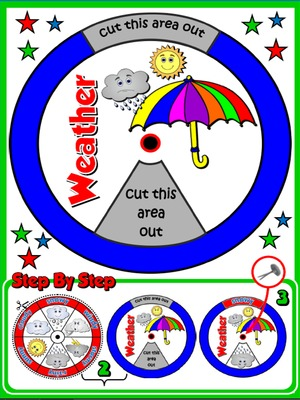 The Weather -  Vocabulary Wheel - page 2