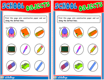 SCHOOL OBJECTS BOARD GAME