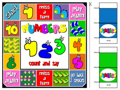 NUMBERS - BOARD GAME#
