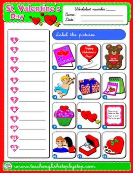 VALENTINE'S DAY WORKSHEET 1#