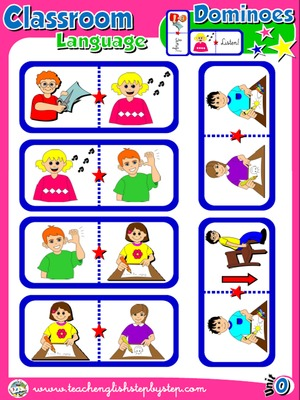 Classroom Language - Dominoes game (Picture - Picture)