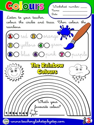 Colours - Worksheet 1