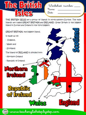 The British Isles - Worksheet