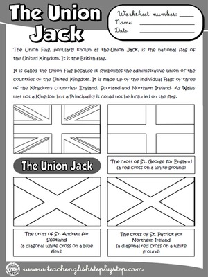 The Union Jack - Worksheet (B & W version)