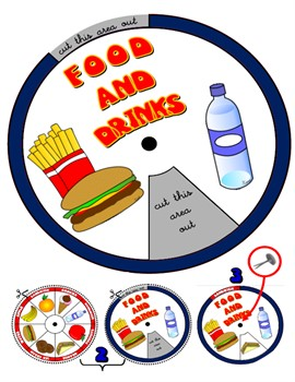 FOOD AND DRINKS WHEEL