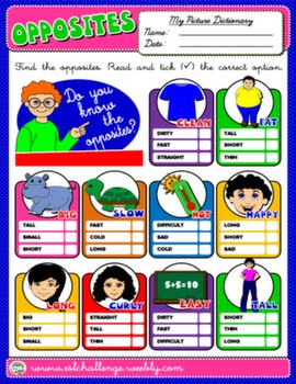 #OPPOSITES WORKSHEET