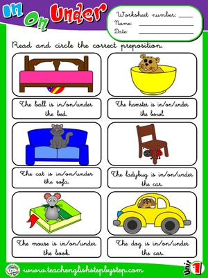 Place Prepositions - Worksheet 2
