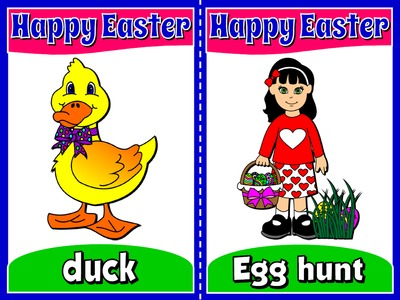 EASTER FLASHCARDS (16 FLASHCARDS)