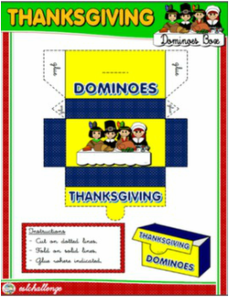 THANKSGIVING DOMINOES BOX