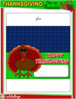 THANKSGIVING POP-UP PLACE CARD