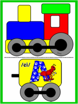 ALPHABET TRAIN CRAFTS A TO Z