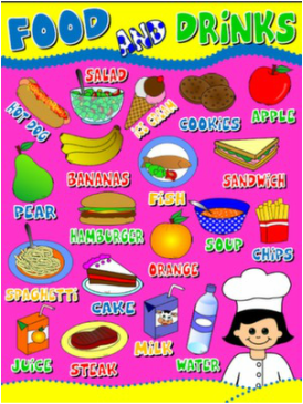 FOOD AND DRINKS POSTER#