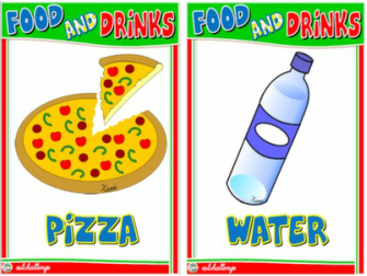 FOOD AND DRINKS FLASHCARDS #