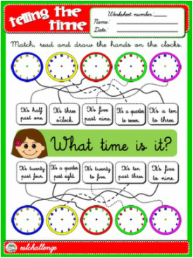 TELLING THE TIME WORKSHEET #