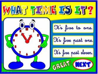 TELLING THE TIME PPT GAME #