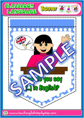 #CLASSROOM LANGUAGE BANNER (AVAILABLE IN BLACK & WHITE)