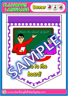CLASSROOM LANGUAGE BANNER (AVAILABLE IN BLACK & WHITE)