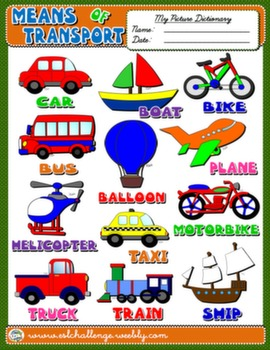 #MEANS OF TRANSPORT PICTURE DICTIONARY