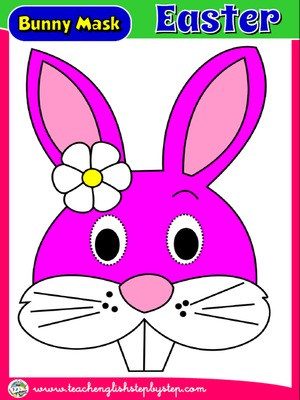 EASTER BUNNY MASK FOR GIRLS