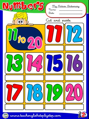 Numbers (11 to 20) - Picture Dictionary
