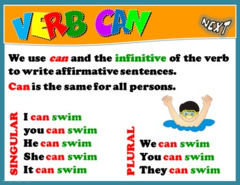 VERB CAN PPT GAME + PRESENTATION