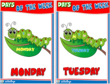 DAYS OF THE WEEK FLASHCARDS#