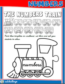 CARDINAL NUMBERS - THE NUMBERS TRAIN (ARTS&CRAFTS)