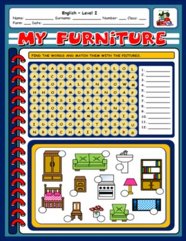 #FURNITURE WORKSHEET