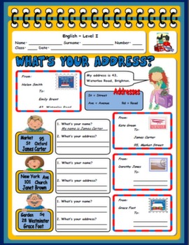 #ADDRESSES WORKSHEET