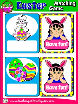 EASTER MATCHING GAME (16 CARDS)