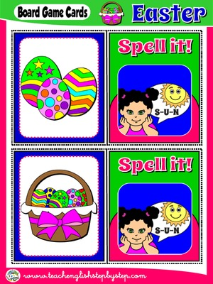 EASTER BOARD GAME 2 - SPELL IT! CARDS