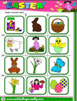 #EASTER BINGO (CALLING CARDS)