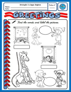 GREETINGS WORKSHEET FOR 2ND GRADERS#