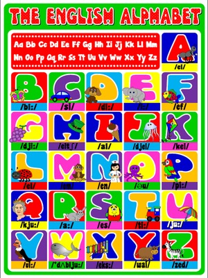 The English Alphabet - Poster