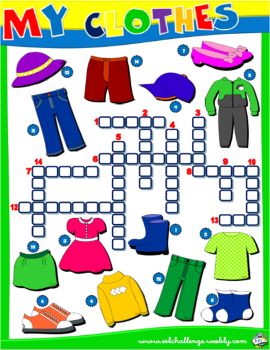 CLOTHES WORKSHEET #