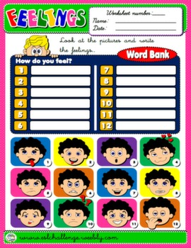 #FEELINGS WORKSHEET