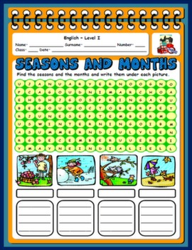 SEASONS & MONTHS WORKSHEET#